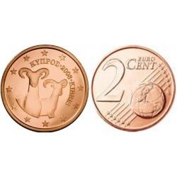 سکه 2 سنت یورو - مس روکش فولاد - قبرس 2008 غیر بانکی