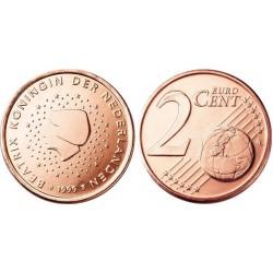 سکه 2 سنت یورو - مس روکش فولاد - هلند 2002 غیر بانکی