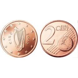 سکه 2 سنت یورو - مس روکش فولاد - ایرلند 2002 غیر بانکی