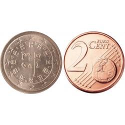 سکه 2 سنت یورو - مس روکش فولاد - پرتغال 2002 غیر بانکی