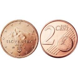 سکه 2 سنت یورو - مس روکش فولاد - اسلواکی 2010 غیر بانکی