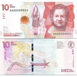 اسکناس 10000 پزو - کلمبیا 2015