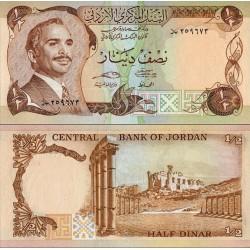 اسکناس نصف دینار - اردن 1992