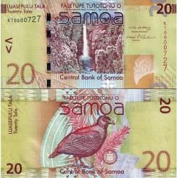 اسکناس 20 تالا - سری یادبودی - ساموا 2008