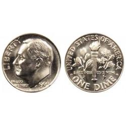 سکه 10 سنت - نیکل مس - آمریکا 1988 غیر بانکی