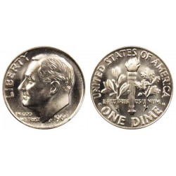 سکه 10 سنت - نیکل مس - آمریکا 2013 غیر بانکی