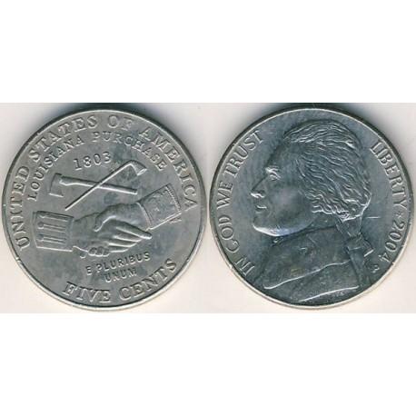 سکه 5 سنت یادبودی - خرید لوئیزیانا - آمریکا 2004 غیر بانکی