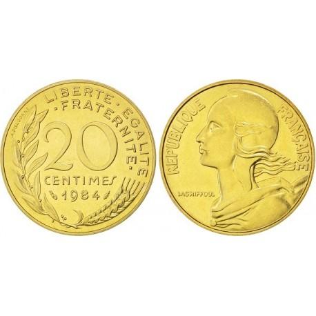 سکه 20 سنتیم - آلومینیوم برنز -  فرانسه 1975 غیر بانکی