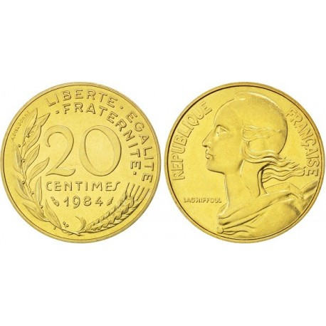 سکه 20 سنتیم - آلومینیوم برنز -  فرانسه 1985 غیر بانکی