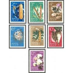 7 عدد تمبر محصولات کشاورزی - شوروی 1964