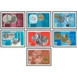 7 عدد تمبر جوایز و مدالهای اداره پست جماهیر شوروی - شوروی 1968