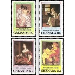4 عدد تمبر دهه زنان - تابلو نقاشی - گرانادا 1981 قیمت 4 دلار