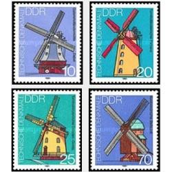 4 عدد تمبر  آسیابهای بادی - جمهوری دموکراتیک آلمان 1981