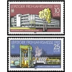 2 عدد تمبر  نمایشگاه بهاره لایپزیک - جمهوری دموکراتیک آلمان 1982