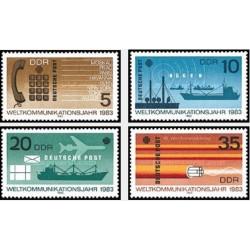 4 عدد تمبر سال ارتباطات جهانی - جمهوری دموکراتیک آلمان 1983