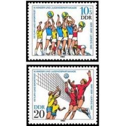 2 عدد تمبر ورزشهای جوانان - جمهوری دموکراتیک آلمان 1983