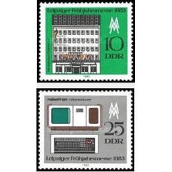 2 عدد تمبر نمایشگاه بهاره لایپزیک - جمهوری دموکراتیک آلمان 1983