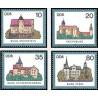 4 عدد تمبر قصرها و قلعه ها - جمهوری دموکراتیک آلمان 1985