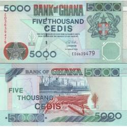 اسکناس 5000 سدی - غنا 2006