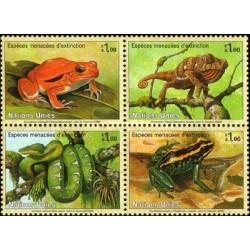 4 عدد تمبر گونه های در حال انقراض - ژنو - سازمان ملل 2006  قیمت 5.8 دلار