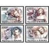 4 عدد تمبر یادبود مرلین مونرو - هنرپیشه سینما - بروندی 2011  قیمت 9.3 دلار