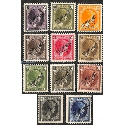 11 عدد تمبر خدمات پستی -سری پستی - سورشارژ Official  - لوگزامبورگ 1926 برخی ارقام با شارنیه