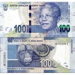 اسکناس 100 رند - تصویر نلسون ماندلا - آفریقای جنوبی 2013  -with Omron rings