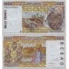 اسکناس 1000 فرانک - آفریقای غربی - نیجر 1998  - دو رقم اول سریال سال انتشار