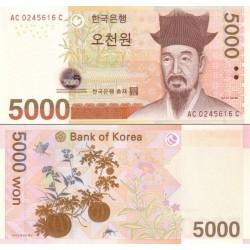 اسکناس 5000 وون - کره جنوبی 2006