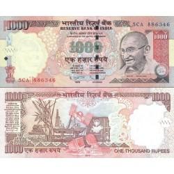 اسکناس 1000 روپیه - هندوستان 2010 با حرف سر لوحه L