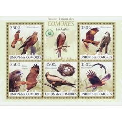 مینی شیت پرندگان شکاری - کومور 2009 قیمت 9.31 دلار