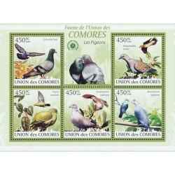 مینی شیت پرندگان - کبوتر و فاخته - کومور 2009 قیمت 9.31 دلار