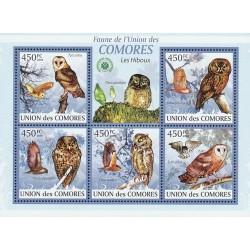 مینی شیت پرندگان - جغدها - کومور 2009 قیمت 11.64 دلار