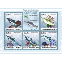 مینی شیت پستانداران - دلفینها - کومور 2009 قیمت 11.64 دلار