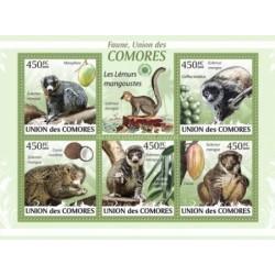 مینی شیت پستانداران - میمون پوزه دار دم حلقه ای  - کومور 2009 قیمت 9.31 دلار