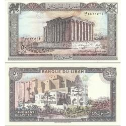 اسکناس 50 لیر لبنان 1988 تک