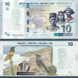 اسکناس 10 بولیویانوس - بولیوی 2018