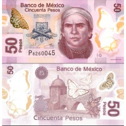 اسکناس پلیمر 50 پزو - مکزیک 2015 سری Q