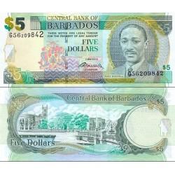 اسکناس 5 دلار - باربادوس 2012 سری 2 می 2012