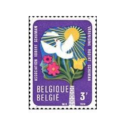 1 عدد تمبر حفاظت از محیط زیست  -  بلژیک 1974