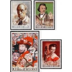 4 عدد تمبر فرهنگ - تابلو  -  بلژیک 1974