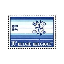 1 عدد تمبر 25مین سالگرد ناتو -  بلژیک 1974