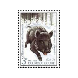 1 عدد تمبر 40مین سالگرد گروه آردنر - گراز وحشی -  بلژیک 1974