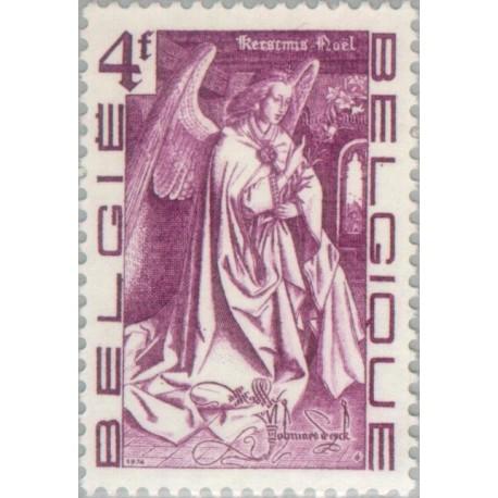 1 عدد تمبر کریستمس-  بلژیک 1974