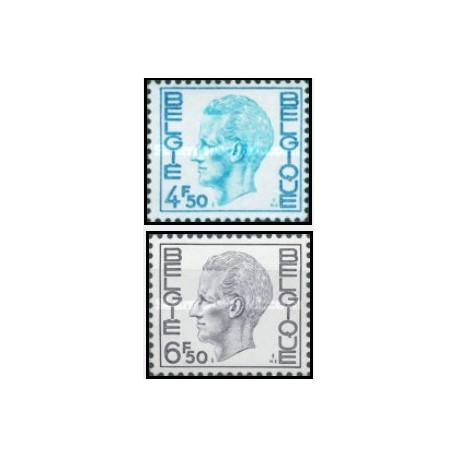 2 عدد تمبر  سری پستی -  بلژیک 1974