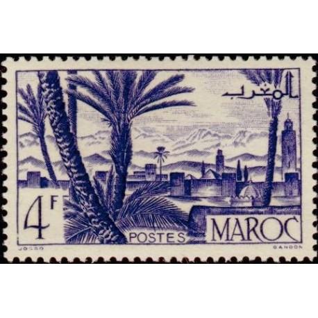 1 عدد تمبر  سری پستی - مناظر شهر -  مراکش 1947