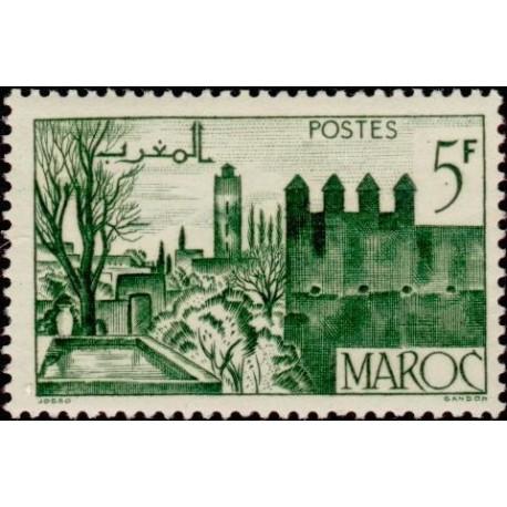 1 عدد تمبر  سری پستی - مناظر شهر -  مراکش 1948