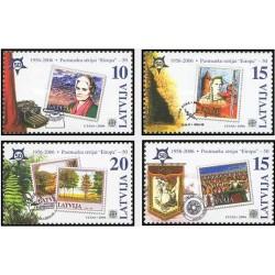 4 عدد تمبر مشترک اروپا - Europa Cept - پنجاهمین سالروز تمبرهای اروپا -لتونی 2006  قیمت 2.3 دلار