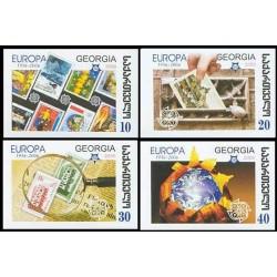 4 عدد تمبر مشترک اروپا - Europa Cept - پنجاهمین سالروز تمبرهای اروپا - بیدندانه - گرجستان 2006