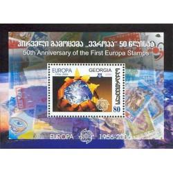 سونیرشیت تمبر مشترک اروپا - Europa Cept - پنجاهمین سالروز تمبرهای اروپا - گرجستان 2006 قیمت 2.3 دلار